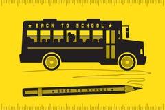 Autobus szkolny z powrotem szkoła Zdjęcia Stock