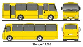 Autobus ukrainien Bogdan A093 de passager Photo libre de droits