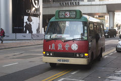 Autobus w Hong Kong, Kowloon Fotografia Stock