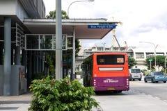 Autobus w Singapur Zdjęcia Stock