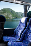 autobus wycieczki fiordu norweska Fotografia Royalty Free