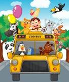 Autobus zwierzęta royalty ilustracja