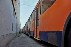 Autobuses de carretilla Fotografía de archivo libre de regalías