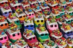 Autobuses del pollo a Guatemala Imágenes de archivo libres de regalías