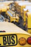 Autobuses escolares Imagen de archivo