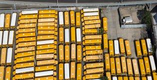 Autobuses escolares amarillos Imagen de archivo libre de regalías