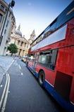 autobusowa czerwień Obrazy Royalty Free