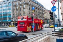 autobusowa decker kopii czerwień obrazy royalty free