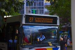 Autobusowa linia 27 w Saloniki Zdjęcie Royalty Free