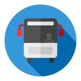 Autobusowa płaska projekt ikona Zdjęcia Stock