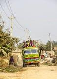 Autobusowa przejażdżka w Nepal Zdjęcie Royalty Free