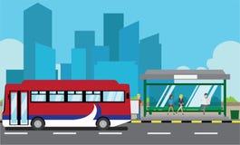 Autobusowa przerwa ilustracja wektor