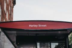 Autobusowa przerwa na Harley ulicie, Londyn, UK fotografia royalty free
