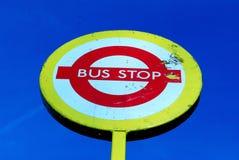 autobusowa szyldowa przerwa Zdjęcie Royalty Free