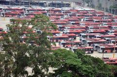 Autobusowa zajezdnia, Sao Paulo, Brazylia Zdjęcia Stock
