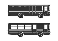 Autobusowe sylwetki Obraz Royalty Free