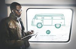 Autobusowego interfejsu transportu pojazdu pojęcie Zdjęcie Stock