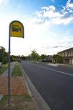 Autobusowej przerwy znak Zdjęcie Royalty Free