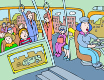 autobusowi ludzie ilustracji