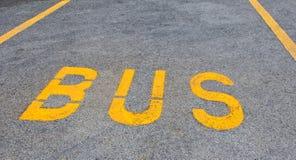 autobusowy drogowy znak Zdjęcia Royalty Free