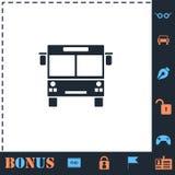 Autobusowy ikony mieszkanie royalty ilustracja