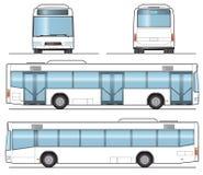 autobusowy jawny szablon ilustracja wektor