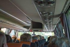 autobusowy kreskówki koloru ilustraci pasażerów obrazek Fotografia Royalty Free