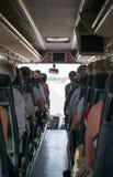 autobusowy kreskówki koloru ilustraci pasażerów obrazek Fotografia Stock