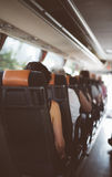 autobusowy kreskówki koloru ilustraci pasażerów obrazek Obrazy Royalty Free