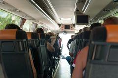autobusowy kreskówki koloru ilustraci pasażerów obrazek Zdjęcie Royalty Free