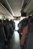 autobusowy kreskówki koloru ilustraci pasażerów obrazek Obraz Royalty Free