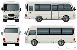 autobusowy mini miastowy wektor Zdjęcia Stock