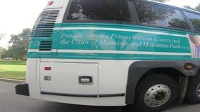 Autobusowy omijanie obok w washington dc Szerokim kącie zbiory