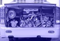 Autobusowy parowozowy błękitny tonowanie Obrazy Stock