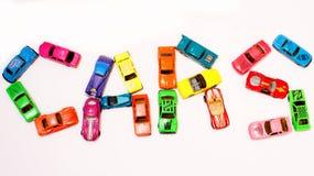 autobusowy samochodów taxi zabawki kolor żółty Zdjęcie Royalty Free