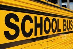 autobusowy szczegółu szkoły znak Fotografia Stock