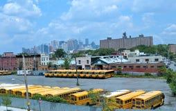 autobusowy szkolny terminal Obraz Stock