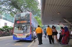 Autobusowy transport publiczny Kuala Lumpur Malezja obrazy stock
