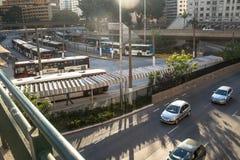 Autobusstation Stockfoto