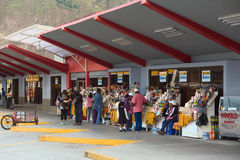 Autobusstation in Banos, Ecuador Stockfoto