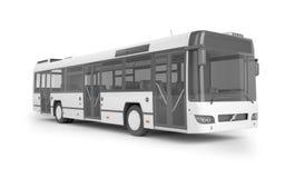 Autobusu egzamin próbny up na białym tle, 3D ilustracja Obrazy Royalty Free