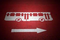 Autobusu i ruch drogowy kierunku znak Obrazy Stock