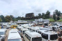Autobusu park w Mbabane, Swaziland, afryka poludniowa, afrykańska infrastruktura Obrazy Stock