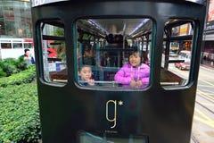 Autobusu piętrowego tramwaj zdjęcie royalty free
