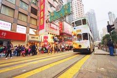 Autobusu piętrowego tramwaj zdjęcie stock