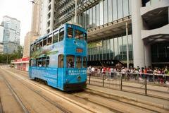Autobusu piętrowego tramwaj obraz royalty free