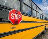 Autobusu szkolnego bezpieczeństwo obraz royalty free