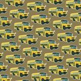Autobusu szkolnego bezszwowy wzór Zdjęcie Stock