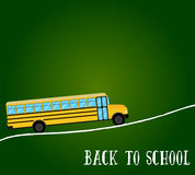 Autobusu Szkolnego wektor tylna szkoły ilustracji