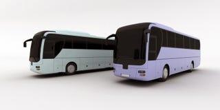 autobusy dwa Zdjęcia Stock